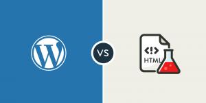 template wordpress vs html