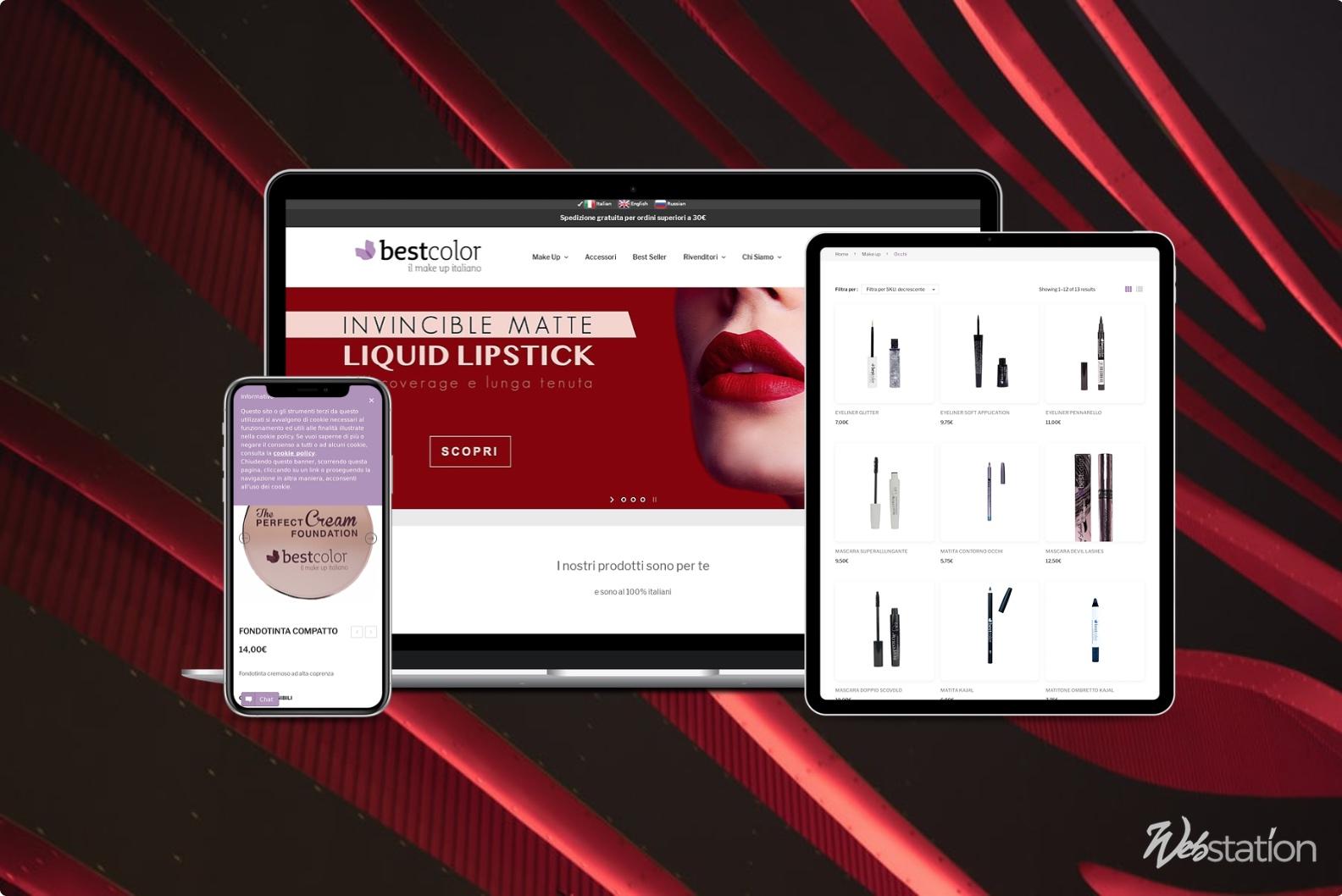 sito ecommerce cosmetici