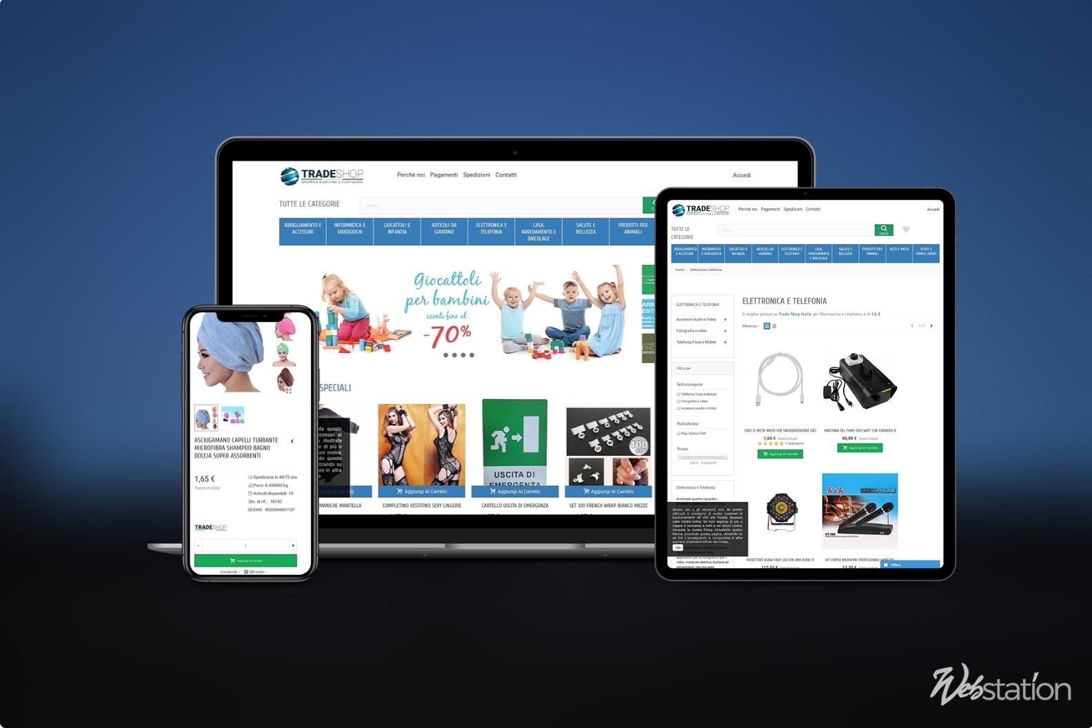 sito ecommerce elettronica