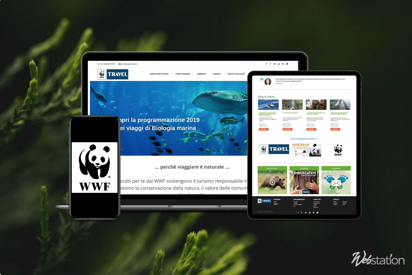 Sito web organizzazione associazione wwf